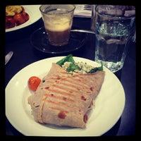 Photo taken at Cafe De La Place by Chantelle D. on 8/24/2012