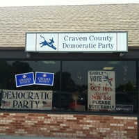 Photo taken at Craven County Democrat Head Quarters by Darron on 6/30/2012