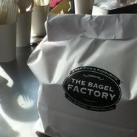 Photo taken at The Bagel Factory by Annamaria P. on 3/10/2012
