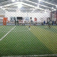 Photo taken at Planet Futsal Yogyakarta by Vikry C. on 6/30/2012