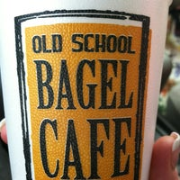 Photo taken at Old School Bagel Cafe by Sayra D. on 5/6/2012