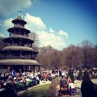 Photo taken at Biergarten am Chinesischen Turm by Rodrigo F. on 3/25/2012