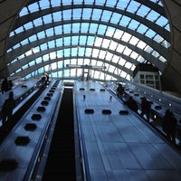 Photo taken at Canary Wharf London Underground Station by Andrew M. on 5/12/2012