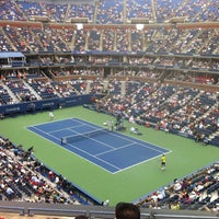 Photo taken at Arthur Ashe Stadium - USTA Billie Jean King National Tennis Center by Jthekid3 on 9/2/2012