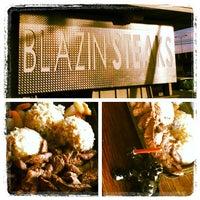Photo taken at Blazin' Steaks by Bert T. on 5/3/2012