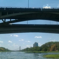 Photo taken at Ponte Juscelino Kubstichek by Maycon J. on 9/12/2012