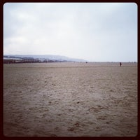 Photo taken at Plage de Deauville by Jean-Baptiste R. on 2/26/2012