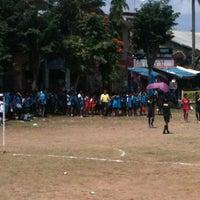 Photo taken at Lapangan Astina by Indah J. on 8/15/2012