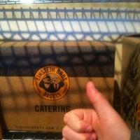 Photo taken at Einstein Bros Bagels by Kelly W. on 3/11/2012