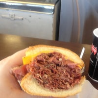 Photo taken at Johnnie's Pastrami by Andy P. on 2/5/2012