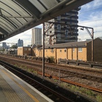 Photo taken at Shadwell DLR Station by Simon B. on 9/8/2012