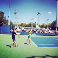 Photo taken at Court 14 - USTA Billie Jean King National Tennis Center by Greg B. on 8/28/2012