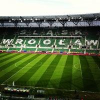 Photo taken at Stadion Wrocław by Krzysztof O. on 4/29/2012