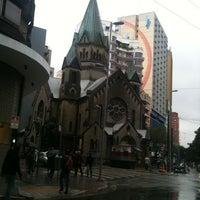 Photo taken at Rua Santa Ifigênia by roberto u. on 5/14/2012