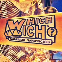 Photo taken at Which Wich? Superior Sandwiches by Damian E. on 2/3/2012