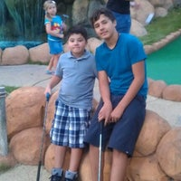 Photo taken at Congo River Miniature Golf by Lisa on 8/26/2012