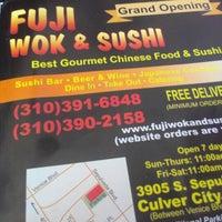 Photo taken at Fuji Wok & Sushi by Kevin C. on 8/7/2012
