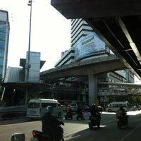 Photo taken at Sala Daeng Intersection by Pang T. on 6/28/2012