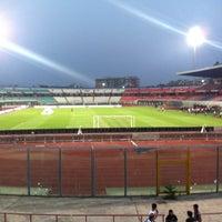"Photo taken at Stadio Cibali ""Angelo Massimino"" by Gabriele I. on 8/8/2012"