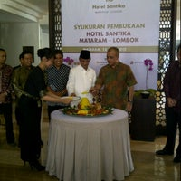 Photo taken at Hotel Santika Mataram by Muhammad I. on 6/15/2012