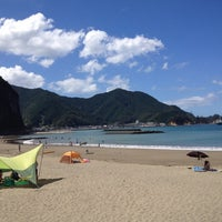 Photo taken at 宇久須海岸 by リベール 留. on 8/3/2012