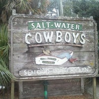 Photo taken at Salt Water Cowboys by Barb on 5/13/2012