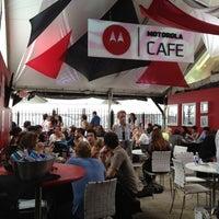 Photo taken at Motorola Cafe by Alyson J. on 3/15/2012