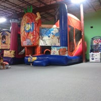 Photo taken at Bounce House Williamsburg by Amelia M. on 8/6/2012