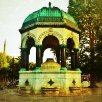 Photo taken at German Fountain by Erhan T. on 7/9/2012