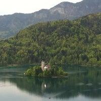 Photo taken at Blejsko Jezero / Lake Bled by Mate H. on 4/30/2012
