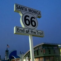 """Photo taken at Santa Monica Route 66 """"End of the Trail"""" by Angela P. on 7/24/2012"""