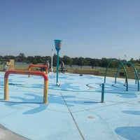 Photo taken at Splash Pad Nelson Park by Francisco P. on 8/3/2012