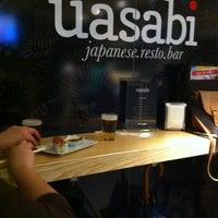 Photo taken at Uasabi Japanese Resto Bar by Juan Carlos T. on 4/6/2012