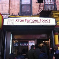 Photo taken at Xi'an Famous Foods by nick b. on 3/27/2012