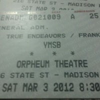 Photo taken at Orpheum Theatre by Joe L. on 3/4/2012