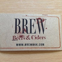 Photo taken at BREW Beers & Ciders by Richard H. on 5/19/2012