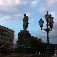 Photo taken at Памятник А. С. Пушкину by Evgesha ♌. on 8/12/2012