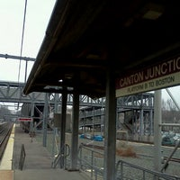 Photo taken at MBTA Canton Junction Station by Trevor L. on 3/14/2012