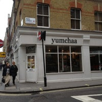 Photo taken at Yumchaa by Andrea N. on 5/4/2012