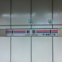 Photo taken at Shinjuku Line Shinjuku Station (S01) by Takamartie on 3/28/2012