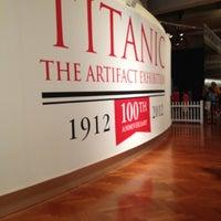 Photo taken at Titanic: 100th Anniversary Exhibit by Allie H. on 7/9/2012