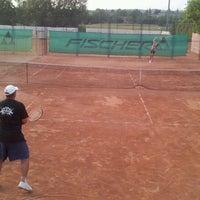 Photo taken at Röpte teniszpálya/lelátó :o) by Anikó Z. on 7/4/2012