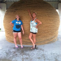 Photo taken at World's Largest Ball Of Twine   (made by a community) by Tracy A. on 6/21/2012