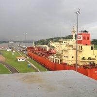 Photo taken at Esclusas de Miraflores by Ignacio R. on 7/1/2012