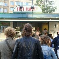 Photo taken at Frit' Flagey by Kim V. on 6/8/2012