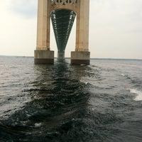Photo taken at Mackinac Bridge by Kyle on 8/26/2012