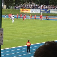 Photo taken at Stade Fallonstadion by Sven D. on 7/18/2012
