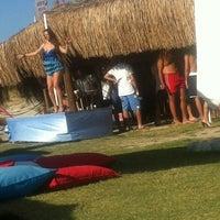 Photo taken at Fun Beach Club by Gürşah Y. on 8/18/2012