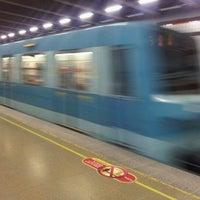 Photo taken at Metro Irarrázaval by Vktor Mñoz S. on 7/12/2012