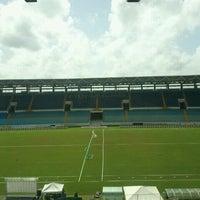 Photo taken at Estadio Monumental de Maturín by Aurora R. on 6/18/2012